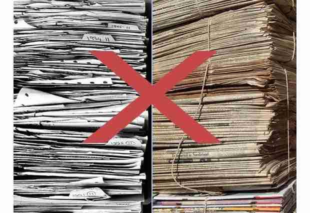 Récupération et destruction d'archives